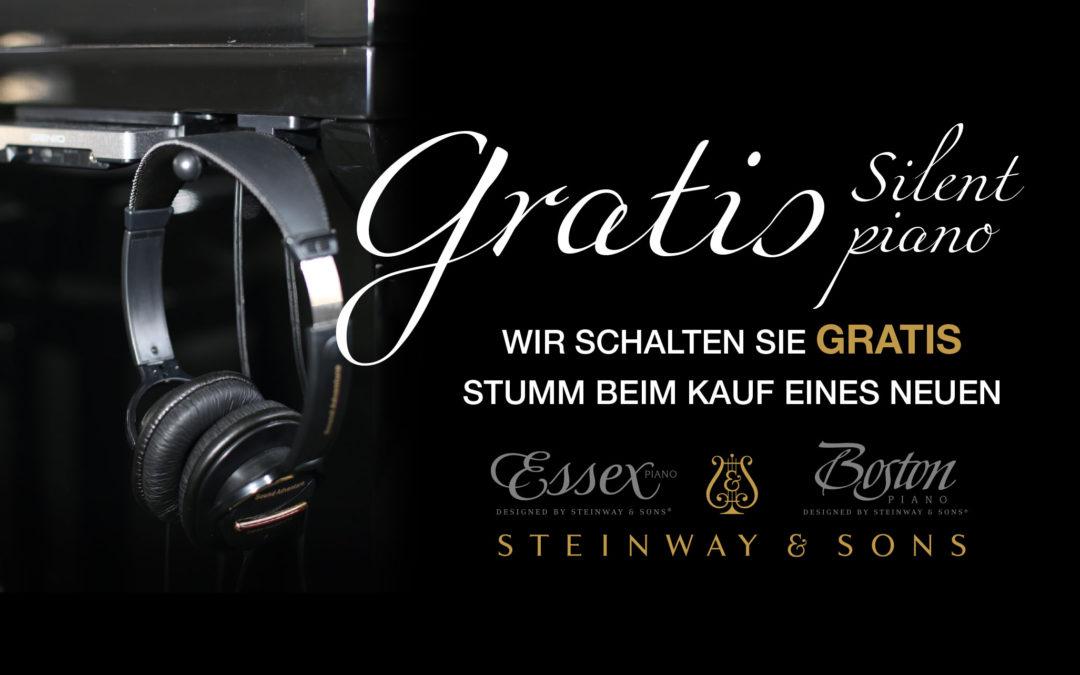 Gratis SILENT Aktion im Piano-Haus Kunze