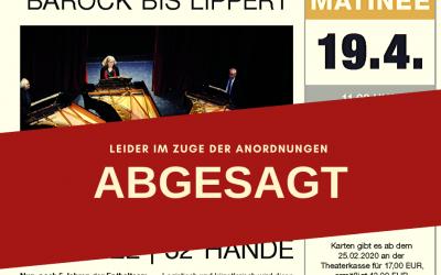+++ ABGESAGT +++  Klavierlehrer-Matinee 2020